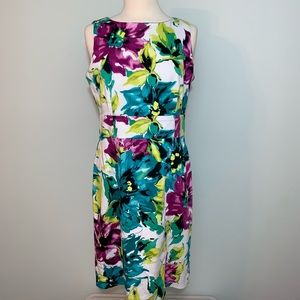 Anne Klein stretch floral dress